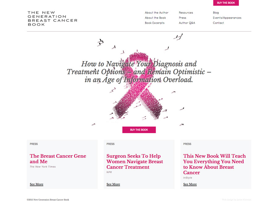 breast cancer book website