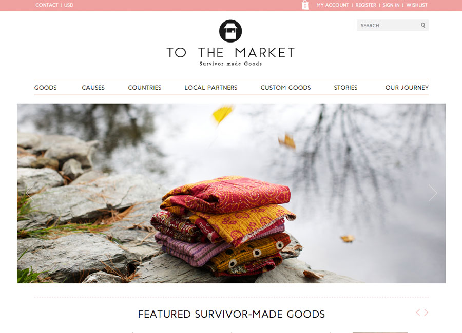 to the market website