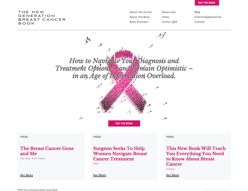 new generation of breast cancer book website