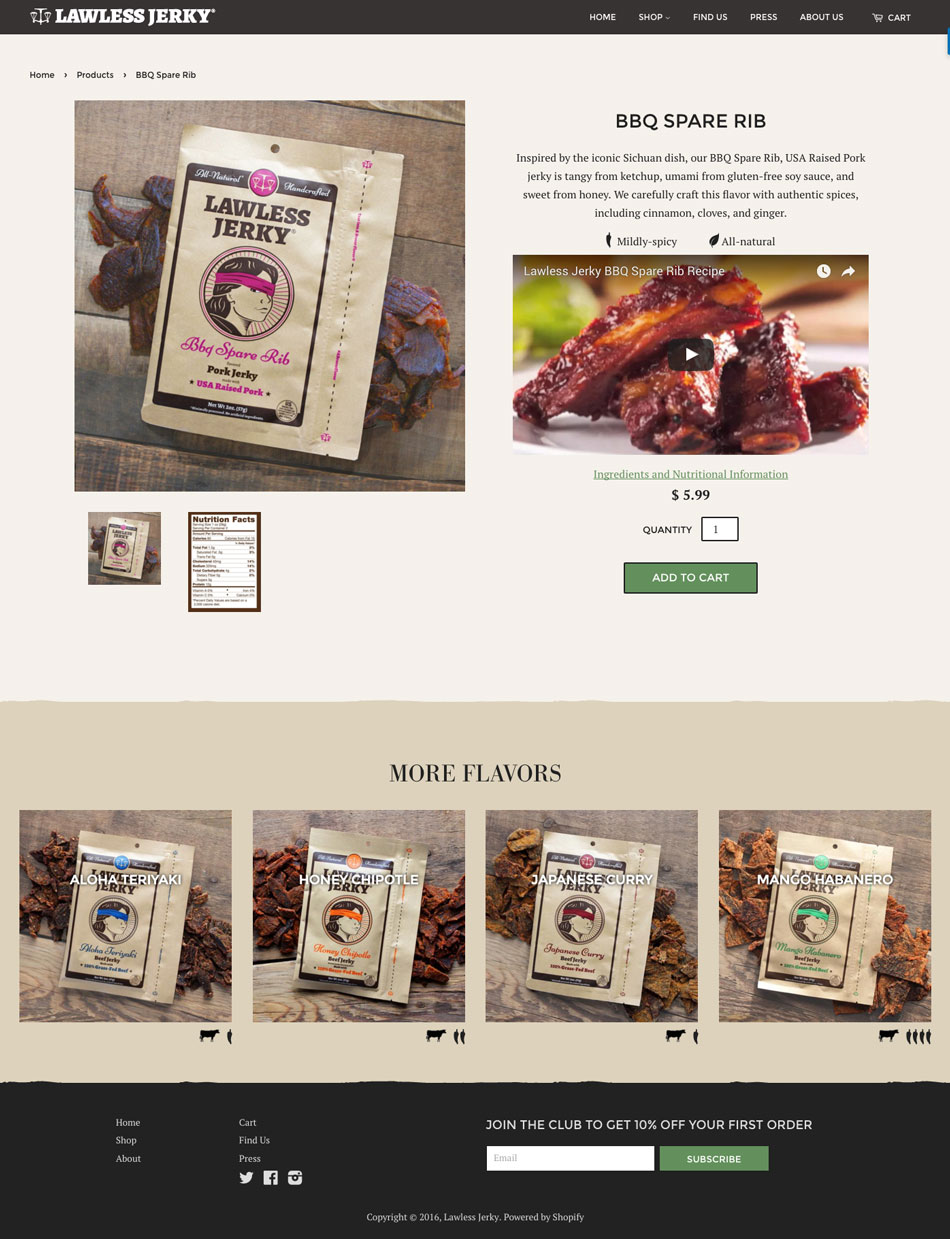 lawless jerky website